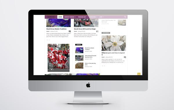Shrove Event Blog Website